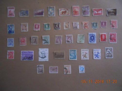 Lote de estampillas postales de argentina.
