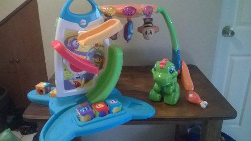 Lote juguetes para bebé gym fisher price