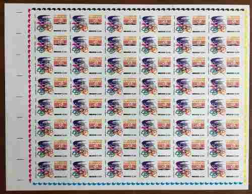 Mexico 1992 Barsalona (2) Hoja De 48 Timbres Nuevos Cpl.