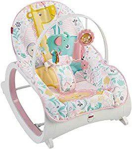 Silla mecedora de bebes infantil fisher-price niñas rosa