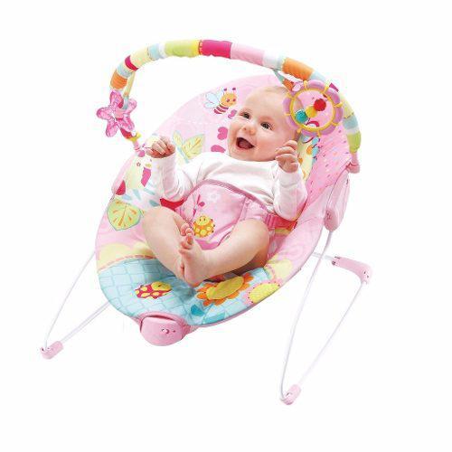 Silla mecedora para bebe bouncer prinsel rosa envio gratis