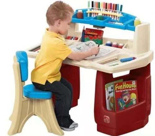 Step2 escritorio de lujo con luz niñas niños tareas