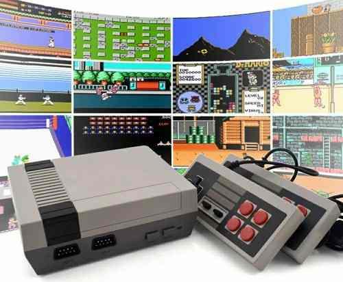 Consola mini nes, tipo nintendo c/juegos 2 controles