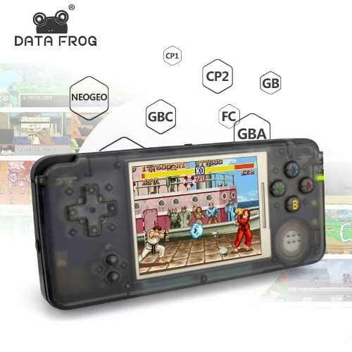 Consola portatil retro, con 3000 juegos clasicos, emulador.