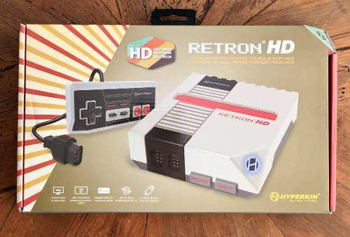 Consola retron hd - nes - completa - incluye metal gear 1