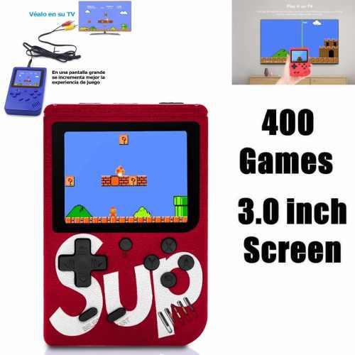 Mini consola retro 400 juegos nes recargable con envío