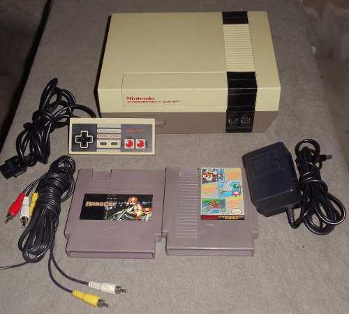 Nintendo nes basico con juegos mario robocop