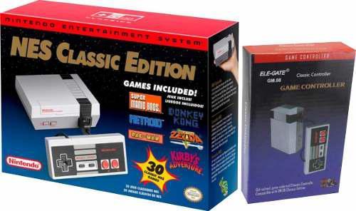 Nintendo nes classic edition 30 juegos + control extra