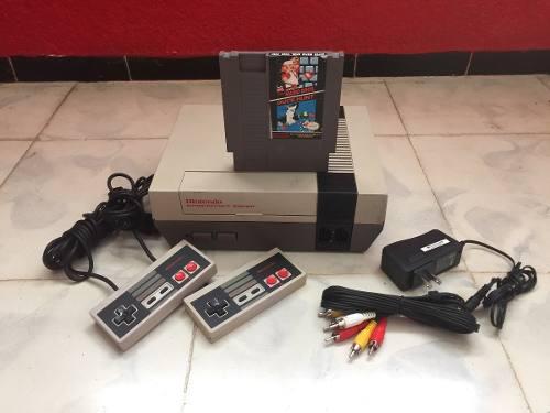 Nintendo nes consola 2 controles mario 1 garantía