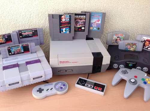 Paquete lote consolas nintendo nes snes n64 juegos