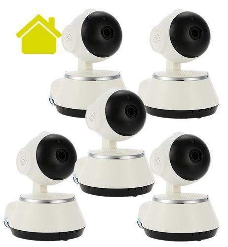 5 camara ip wifi vigilancia alarma app v380 robotica
