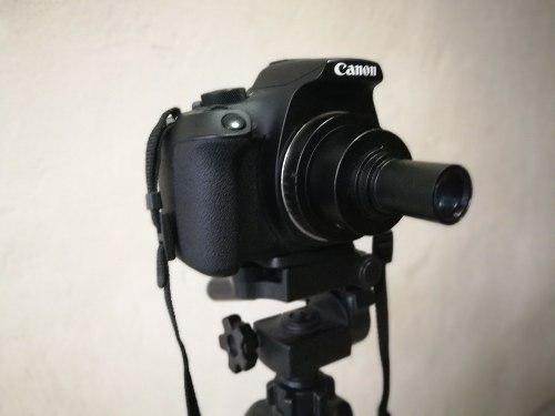 Amscope adaptador slr microscopio a camara canon