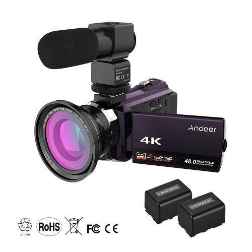 Andoer 4k 1080p 48mp Wifi Digital Vídeo Cámara 2 #