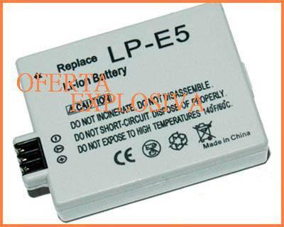 Bateria recargable lp-e5 p/camara digital canon rebel xsi