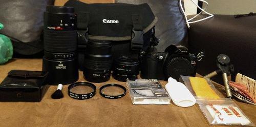 Camara Canon Eos Rebelxs Completa