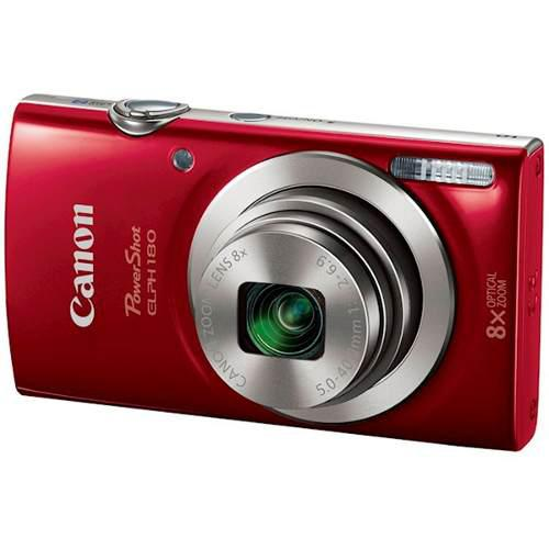 Camara digital canon powershot 20mpx 8x zoom elph 180 rojo