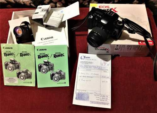 Camara fotografica canon, análoga reflex eos rebel xs