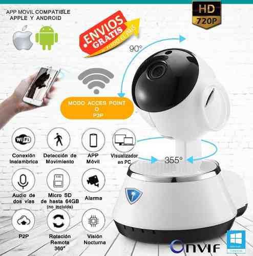 Camara ip espía wifi alarma app casa hd v380 app español