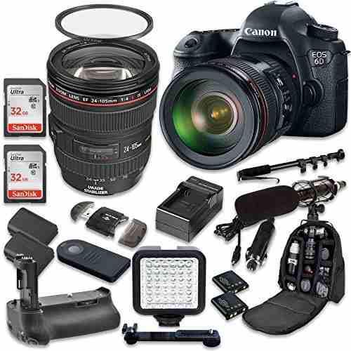 Canon eos 6d 20.2 mp full frame cmos digital slr dslr camera