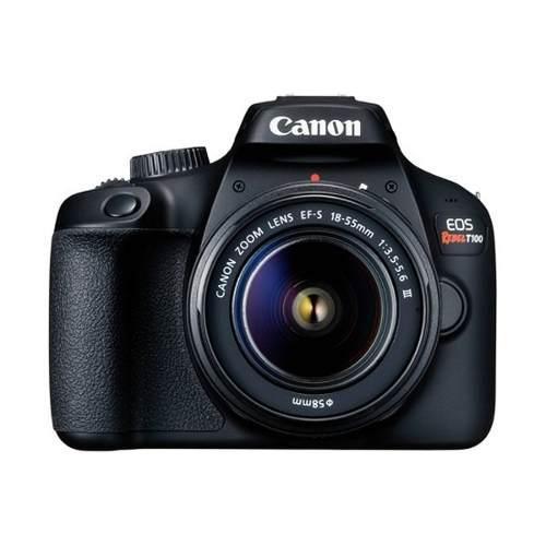 Canon eos rebel t100 con lente ef-s 18-55mm f/3.5-5.6 iii