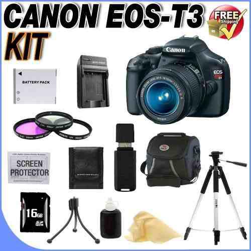 Canon eos rebel t3 12.2 mp cmos digital slr with 18-55mm is