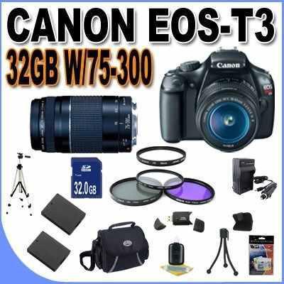 Canon eos rebel t3 12.2 mp cmos digital slr with canon 18-55