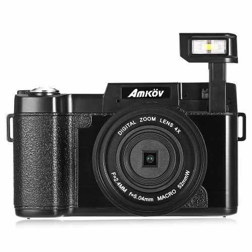 Cámara vídeo 4x digital 8mp 1080p con macro lente amkov cd