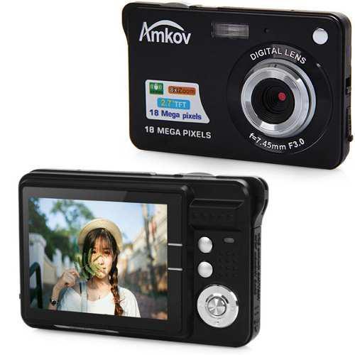 Cámara vídeo digital 2.7inch (negro) 18mp 1080p zoom 8x am