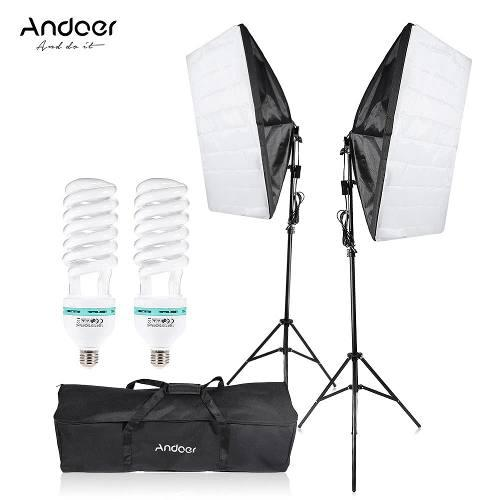 Softbox 2 iluminacion fotografia kit profesional luces