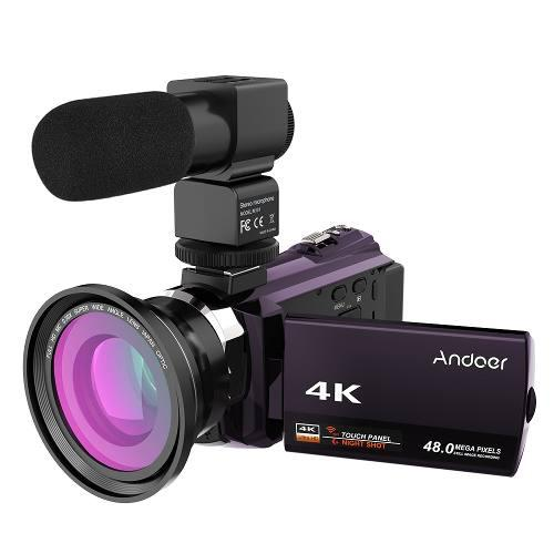 Video Camara Grabacion Digital Andoer 4k 1080p 48mp Wifi