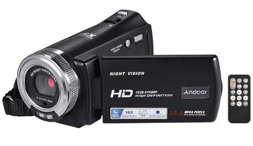 Videocámara digital fhd 1080p 20 mp visión nocturna cmos