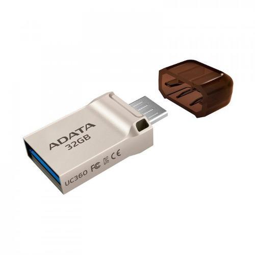 Adata memoria usb 32gb otg micro usb 3.1 uc360 silver c/tapa
