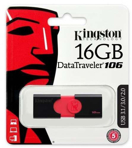Lote: 5 memorias usb 16gb kingston dt101g2/16gb envio gratis