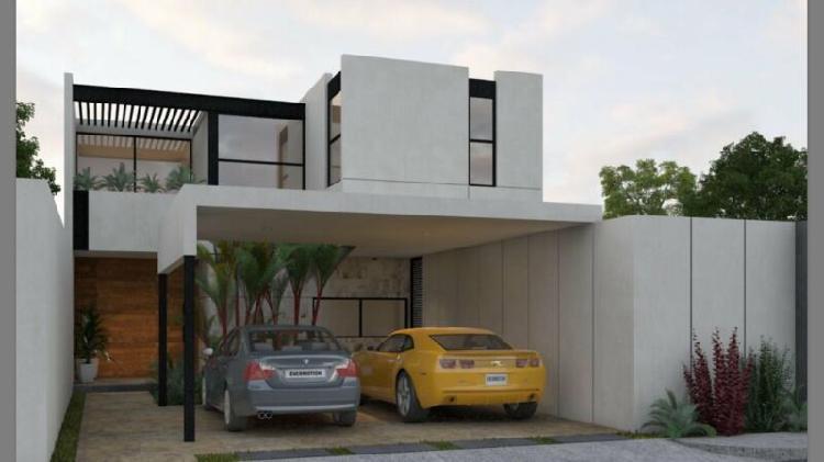 Preventa preciosa casa con acabados de lujo en temozon