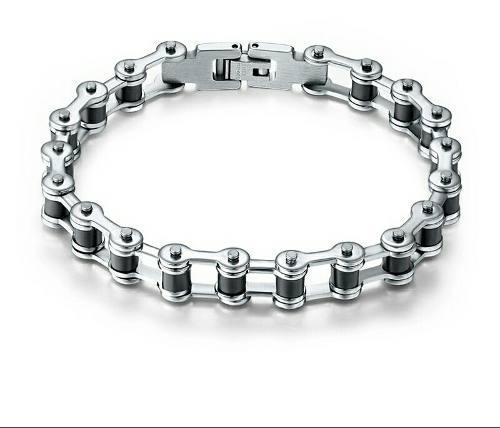 cfb416de3f66 Pulsera fina de caballero cadena de acero inoxidable