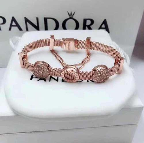 bajo precio 4f398 2ba43 Pulsera Pandora Reflexions De Plata Color Oro Rosa
