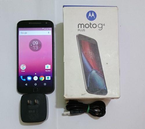 Moto g4 plus, xt1641, estetica 9, en caja, liberado