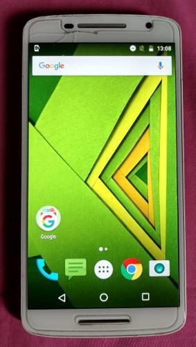 Motorola moto x play, blanco, liberado, estética de 8.5.