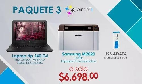 Laptop hp g6 intel c 500gb+impresora m2020+1 usb adata 8gb