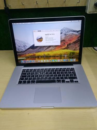 Macbook pro core i7 2.3 8 gb de ram 500 hdd mac os sierra