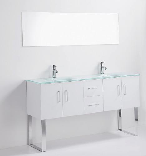 Muebles Bano Lavabo Cristal.Mueble Bano Gabinete Lavabo Cristal Gb 2115 85 Gravita En