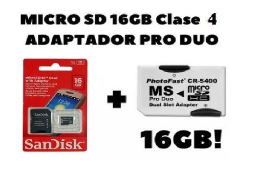 Adaptador micro sd a pro duo photofast con micro sd 16gb c4