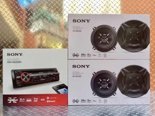 Auto estereo sony mex-n4200bt bluetooth con 4 bocinas 5 1/4