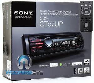 Auto estéreo sony cdx-gt57up mp3/cd/usb radio am/fm