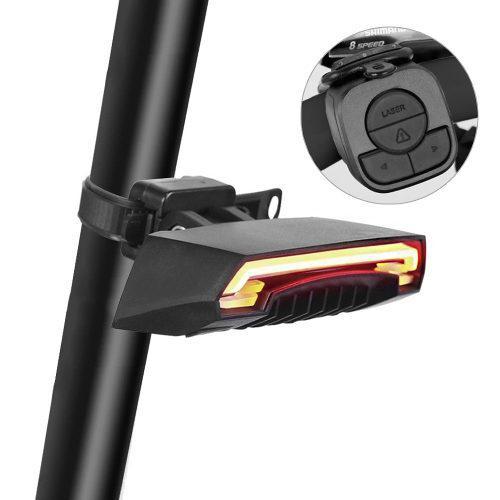 Redlemon luz trasera bicicleta control laser direccional c7