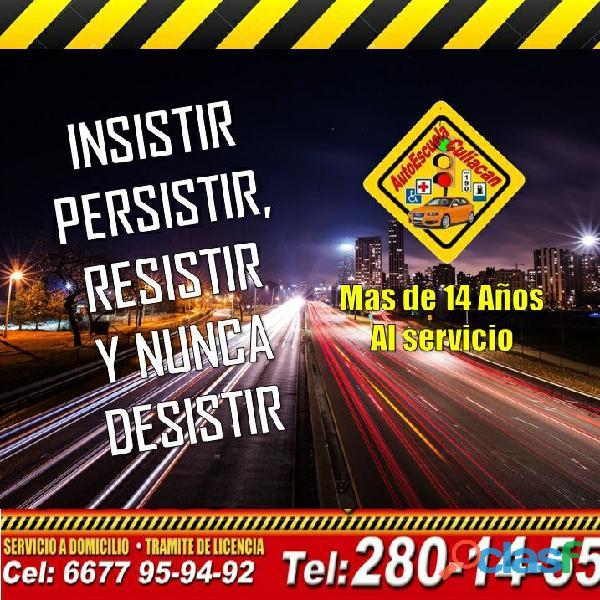 Inscribete a nuestros cursos de manejo en Autoescuela Culiacán