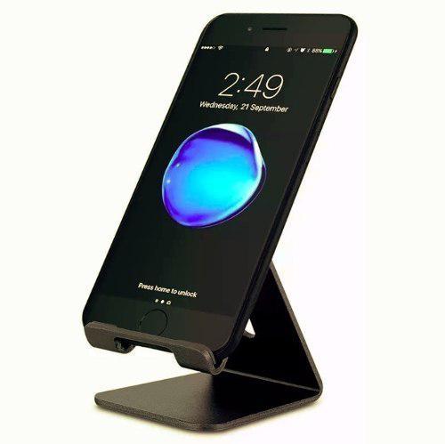 Base stand soporte celular tablet android apple color negro