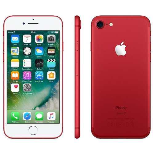 Celular apple iphone 7 128gb rojo red 1 año garantia