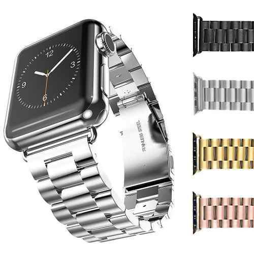 Extensible correa para apple watch 1 2 3 4 acero inoxidable