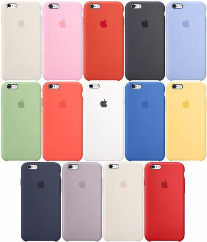 Funda Apple Silicon Case + Mica Cristal Iphone 6 7 8 Plus X